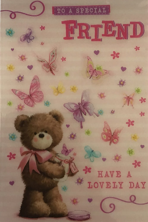 3D Friend Birthday Card (C)