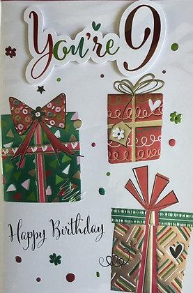 9th Birthday Card