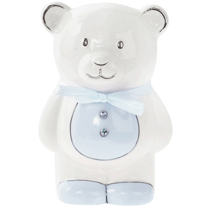 Blue Teddy Ceramic Money Bank