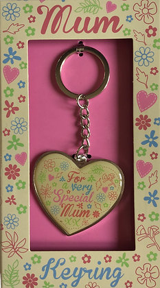 Special Mum Heart Shaped Keyring