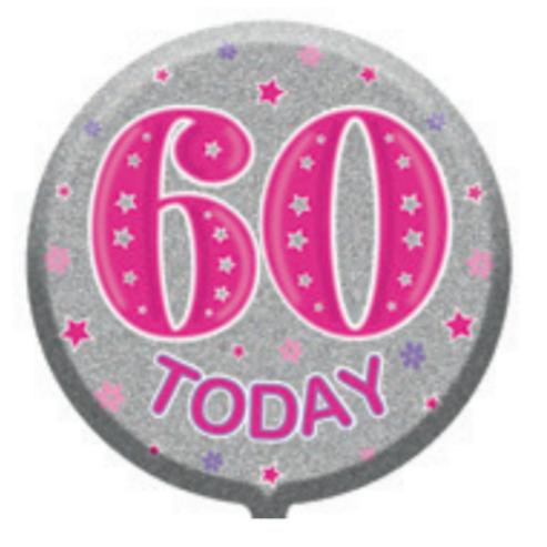 "60th Birthday Female 18"" Foil Balloon"