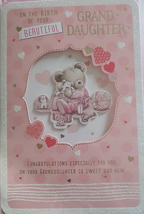 Birth of Your Granddaughter Card