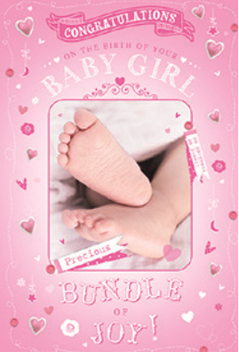 3D Baby Girl Card(T)