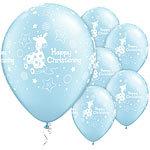 "11"" Latex Christening Blue Balloons"