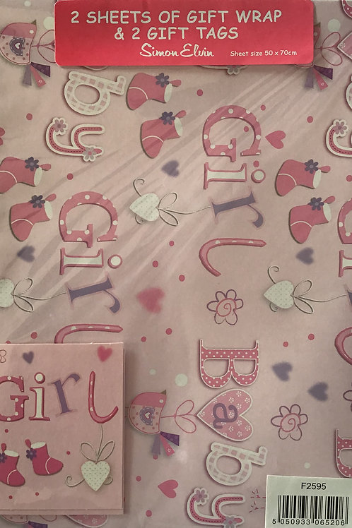 Baby Girl Gift Wrap Pack