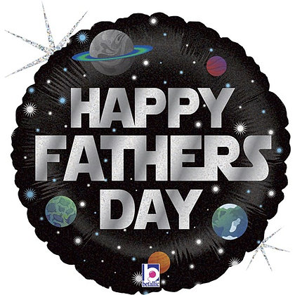 """Happy Father's Day 18"""" Foil Balloon (Deflated)"""