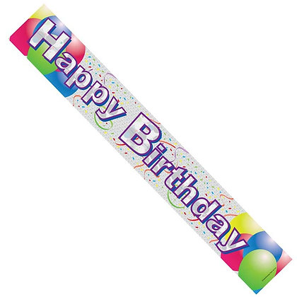 Unisex Birthday Banner Balloons