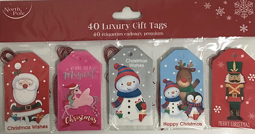 40 Luxury Foil Gift Tags