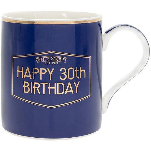 Gents Society Happy 30th Birthday Mug