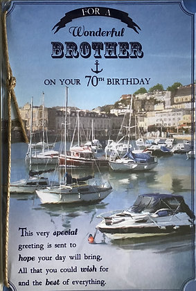 Brother's 70th Birthday Card