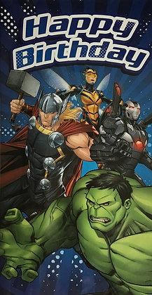 Avengers Open Birthday Card