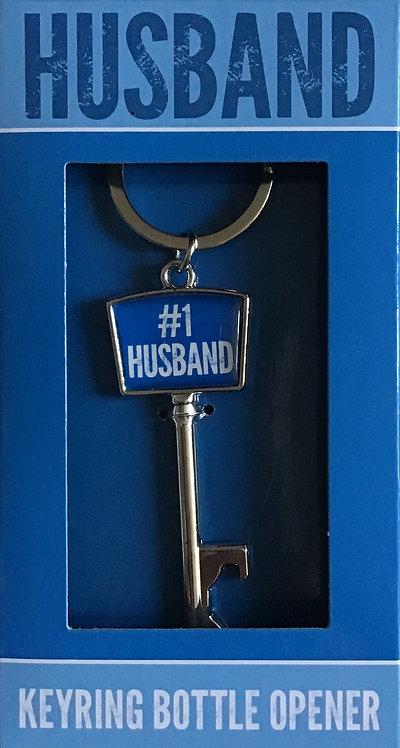 #1 Husband Keyring