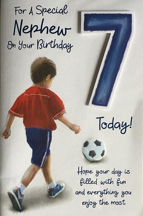Nephew's 7th Birthday Card