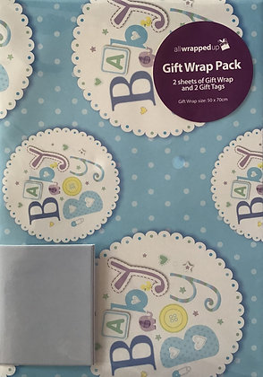 Baby Boy Gift Wrap Pack