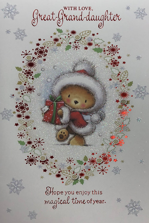 Great-Granddaughter Christmas Card