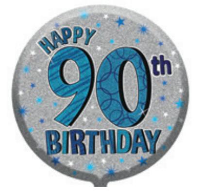 "90th Birthday Male 18"" Foil Balloon"