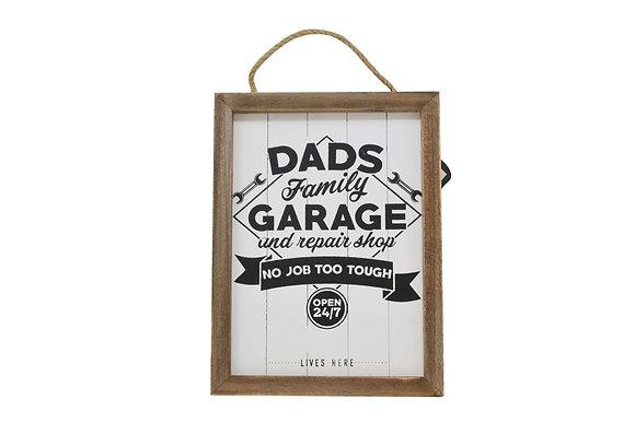 Dad's Garage Wooden Plaque