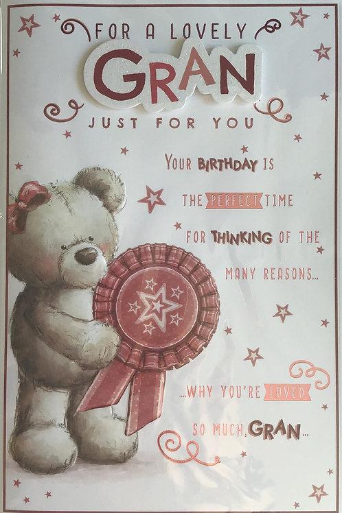 Gran Birthday Card 8 Page
