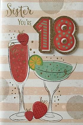 Sister's 18th Birthday Card
