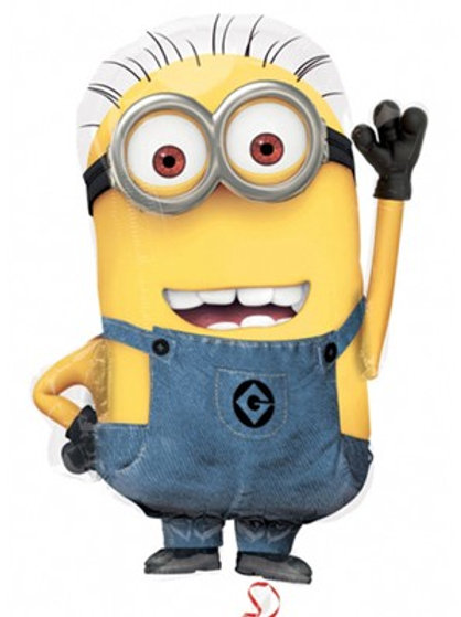 """Despicable Me Minion Supershape 25"""" Foil Balloon (Deflated)"""