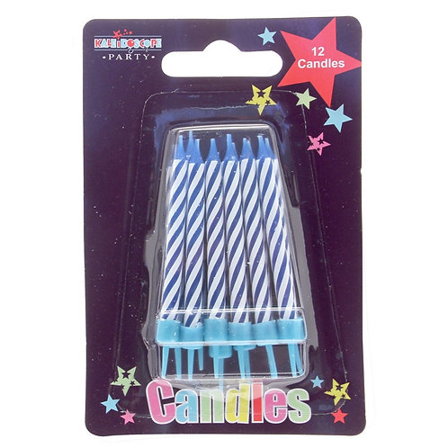 12 Pk Blue Candles