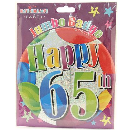 Age 65 Unisex Party Badge (15cm)