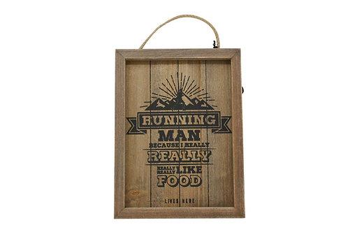 Running Man Wooden Plaque