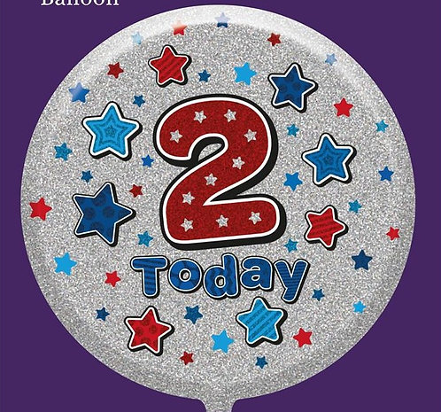 "2nd Birthday Male 18"" Foil Balloon"
