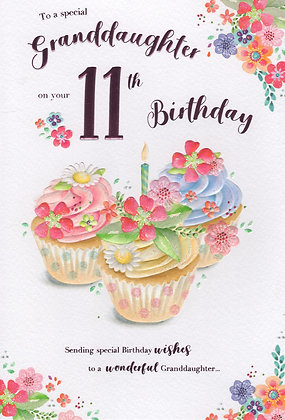 Granddaughter 11th Birthday Card