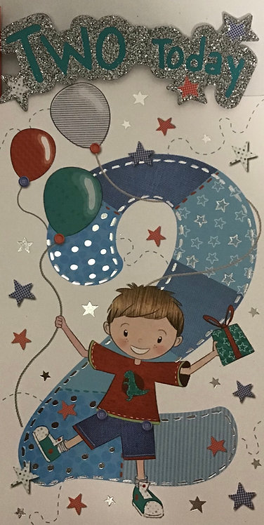 2nd Male Birthday Card