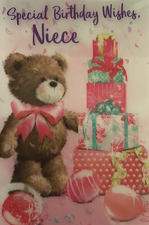 3D Niece Birthday Card (C)