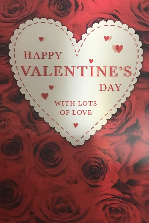 3D Open Valentines Card