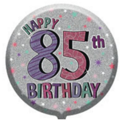 "85th Birthday Female 18"" Foil Balloon"