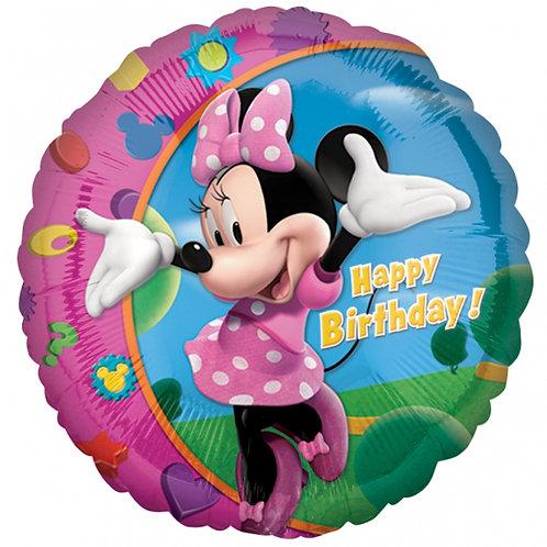 "18"" Minnie Mouse Happy Birthday Balloon"