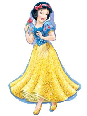 """Snow White Supershape 37"""" Foil Balloon (Deflated)"""
