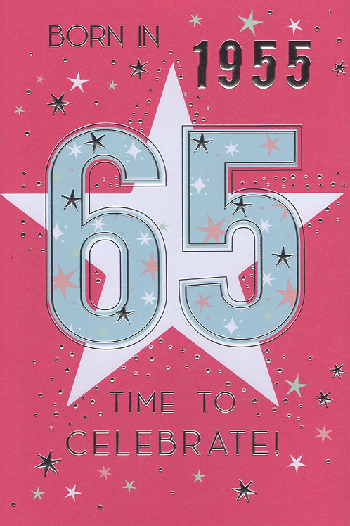 Year You Were Born 65th Birthday Card