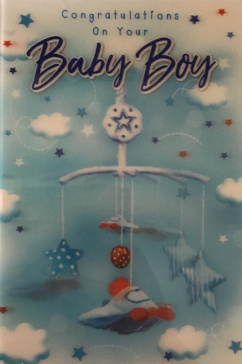 3D Baby Boy Card (T)