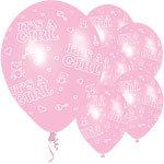 "11"" Latex Baby Girl Balloons"