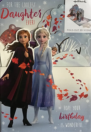Disney Frozen Daughter Birthday Card