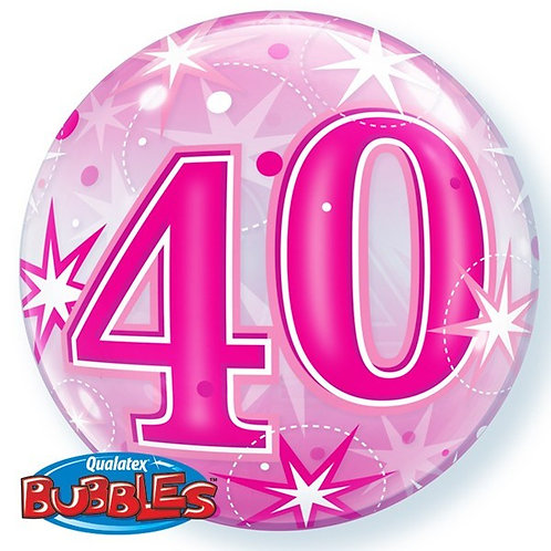 "40th Birthday Sparkle 22"" Bubble Balloon"