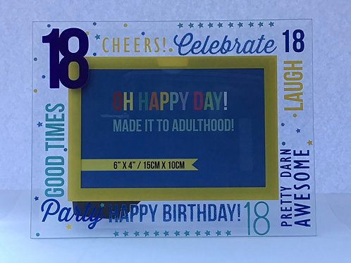 Celebrations 18th Blue Photo Frame