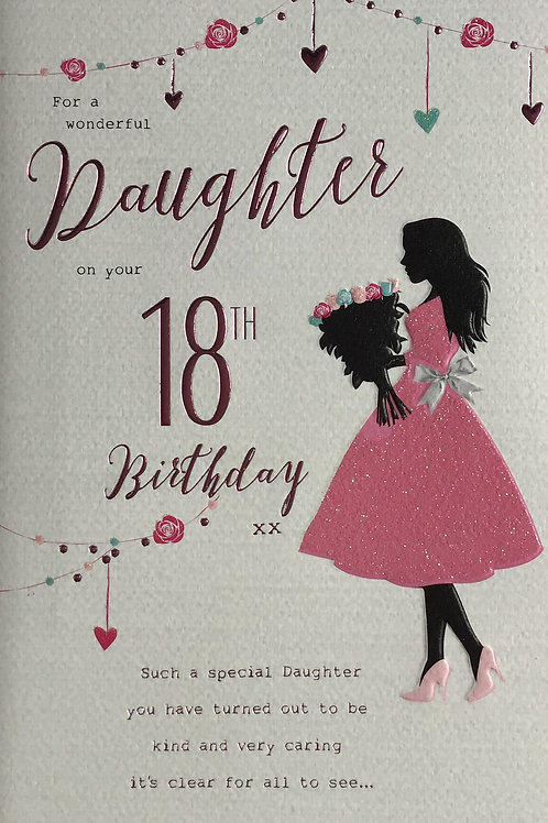 Daughter's 18th Birthday Card