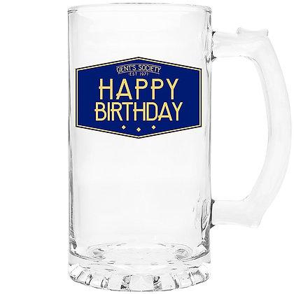Gents Society Happy Birthday Tankard