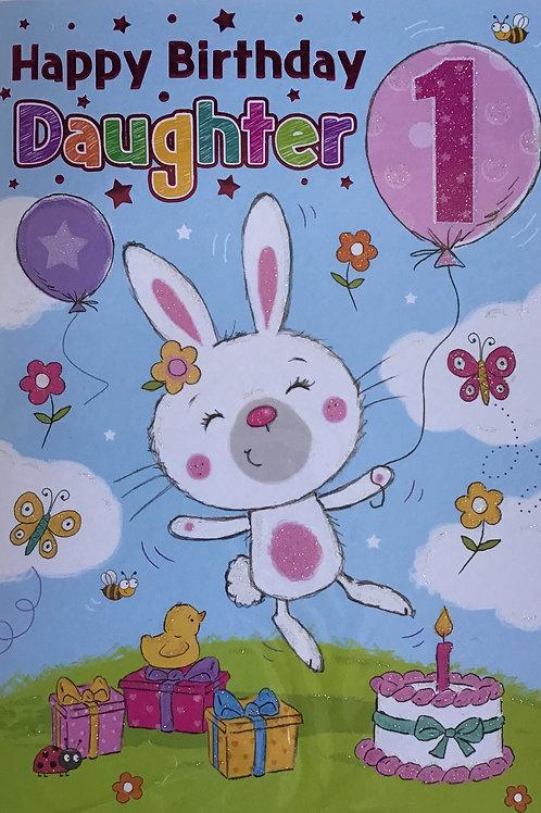 Daughter's 1st Birthday Card