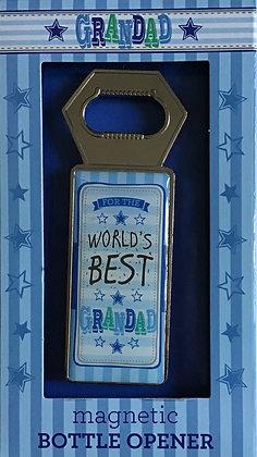 World's Best Grandad Magnetic Bottle Opener