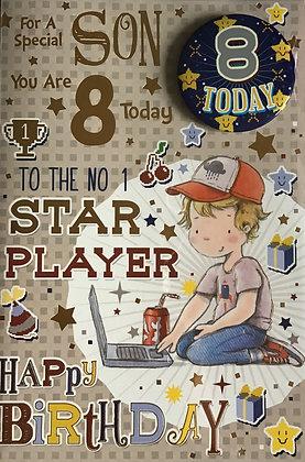 Son's 8th Birthday Card