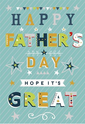 Open Father's Day Card