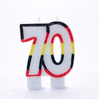Age 70 Number Candle