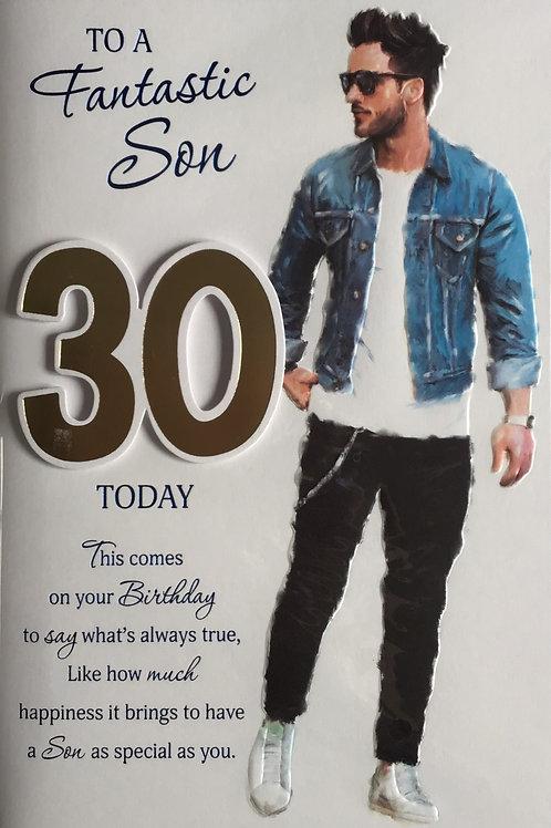 Son's 30th Birthday Card