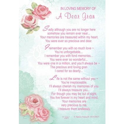 In Loving Memory Of A Dear Gran